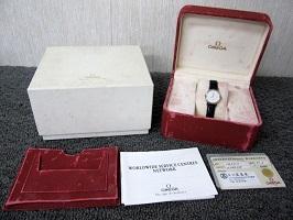 OMEGA DeVille デビル シルバー クオーツ 腕時計 功労賞刻印