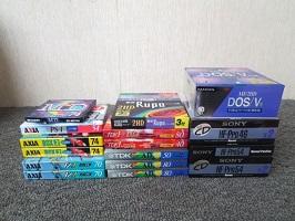 練馬区にて フロッピー MD カセットテープまとめを宅配買取しました