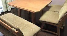 ダイニングセット ミキモク ベンチ×1 椅子×2