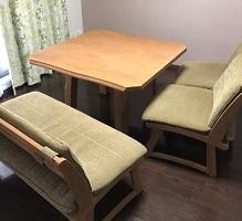 海老名市にて ミキモク ダイニングセット ベンチ 椅子 を出張買取しました