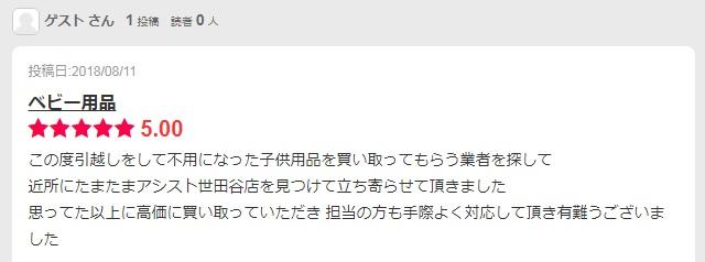 世田谷店口コミ