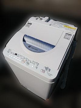 八王子市にて シャープ 全自動洗濯機 ES-TG55L-A を出張買取しました