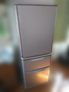 小平市にて 三菱 冷凍冷蔵庫 MR-C34Y-P 2014年製を出張買取しました