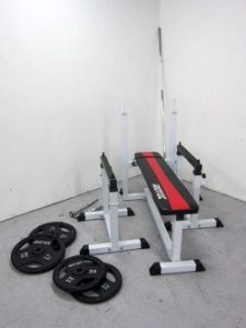 アイロテック トレーニングベンチセット プレート シャフト