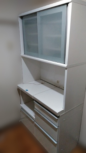 横浜市旭区にて 松田家具 レンジボード を出張買取致しました