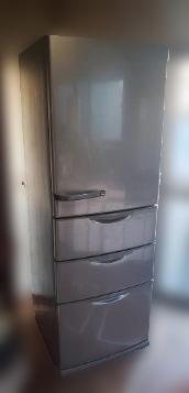 八王子市にて アクア 冷凍冷蔵庫 AQR-361C を出張買取しました
