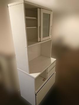 杉並区にて ニトリ 食器棚 W80 を出張買取致しました