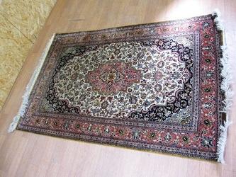 ベルシャ じゅうたん 絨毯 カーペット クム産 シャーアッバス