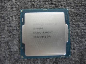 八王子市にて Intel CPU Core i3-6100 を出張買取致しました