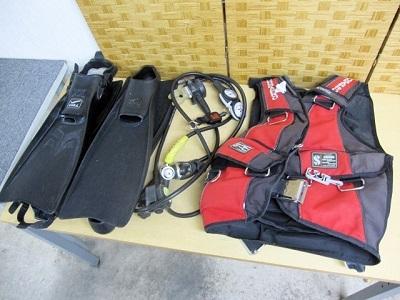東村山市にて ダイビング機材まとめ BCジャケット レギュレーターフィン を出張買取致しました