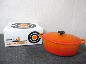 ルクルーゼ 27cm 4.2L ココット オーバル 両手鍋 オレンジ