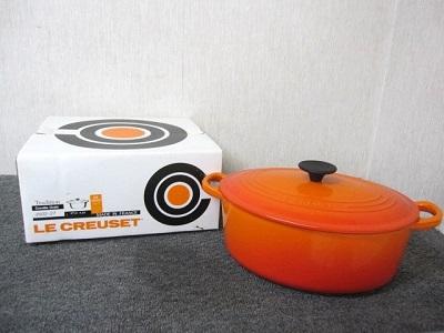 綾瀬市にて ルクルーゼ 27cm 4.2L ココット オーバル 両手鍋 を出張買取致しました