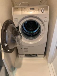 大和市にて シャープ ドラム式洗濯機 ES-V600-NL を出張買取致しました