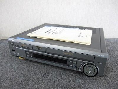 八王子市にて SONY Hi-8 S-VHS ダブルビデオデッキ WV-ST1 を店頭買取致しました