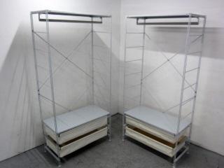 世田谷区にて 無印良品 スチールユニットシェルフ 2点 を出張買取致しました