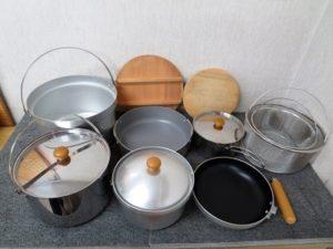 ユニフレーム 鍋セット ざる アウトドア キッチン調理器具