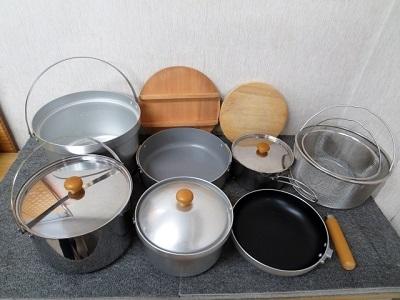 江東区にて ユニフレーム 鍋セット キッチン調理器具 を出張買取致しました