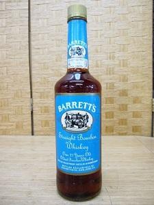 世田谷区にて BARRETT'S 21年 ブルーラベル バーボン を出張買取致しました