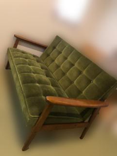 横浜市保土ヶ谷区にて カリモク60 ソファ モケットグリーン を出張買取致しました