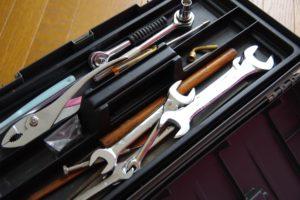 工具類は工具箱と一緒にお引取が可能
