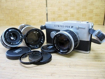 横浜市港区にて オリンパス フィルムカメラ PEN FT レンズ×2 を出張買取致しました
