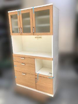 昭島市にて 食器棚 レンジボード W100 を出張買取致しました
