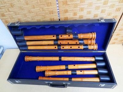 小平市にて 尺八 琴風調 4本 銘無 3本 を店頭買取致しました
