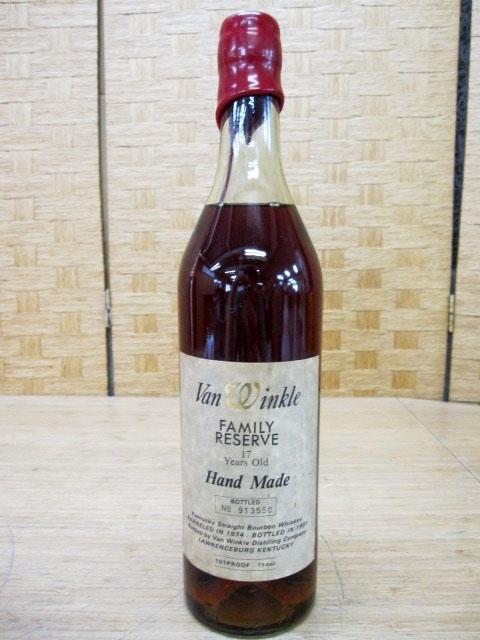 東京都世田谷区にて ヴァンウィンクル 17年 バーボン No.913550 を出張買取致しました