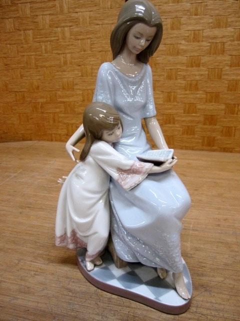 リヤドロ 陶器人形 お休み前のご本 5457