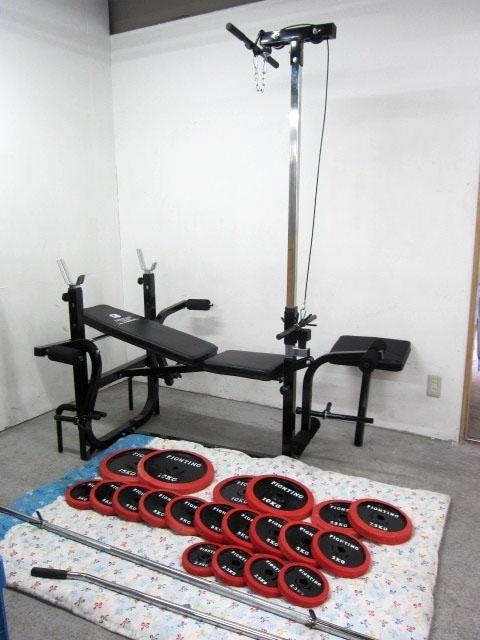 豊島区にて ファイティングロード キングスセット バーベルシャフト まとめ 計125kg を出張買取致しました