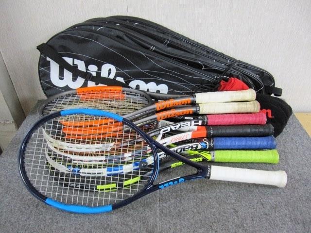 目黒区にて テニスラケット 7本まとめ 錦織圭 ウルトラツアーモデル ウィルソン バボラ等を出張買取致しました
