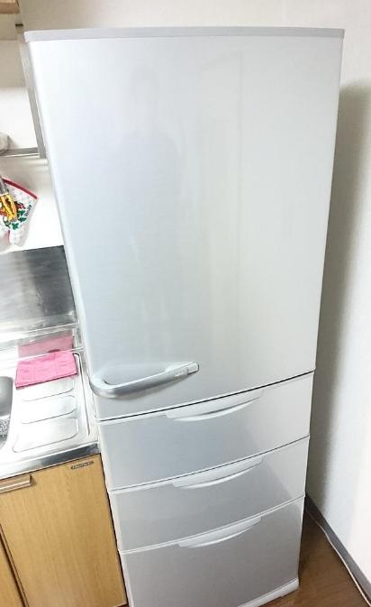 青梅市にて 冷蔵庫 アクア AQR-361D 2015年製 を出張買取致しました