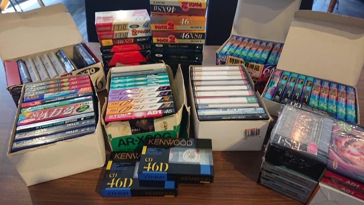 世田谷区にて 未開封 カセットテープまとめ ハイポジ/ノーマル を店頭買取しました