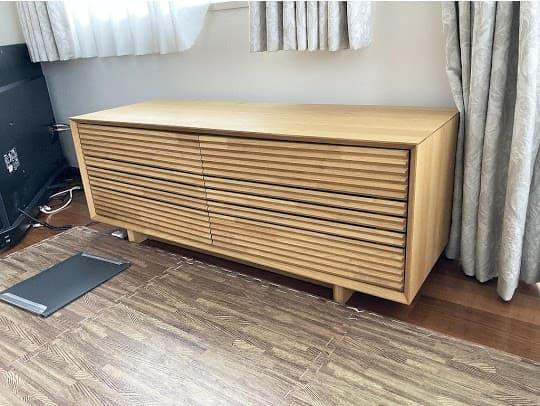 東京都 杉並区にて テレビボード カリモク QT4017S000 を出張買取致しました
