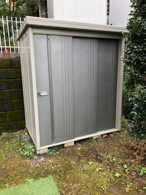 神奈川県川崎市にて タクボ物置 約W1830×D1500×H2100mm を出張買取しました
