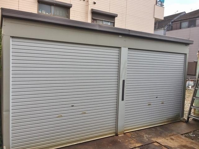 東京都 江戸川区にて ダイケン物置 ガレージ 車庫 約W5350×D5800×H2670mm を出張買取しました