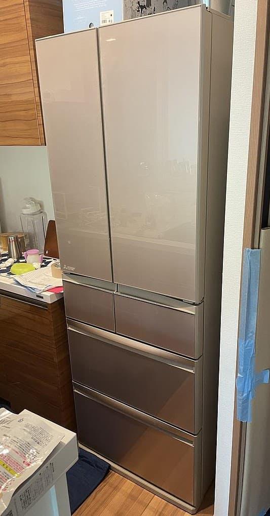 東京都 中野区にて 冷蔵庫 三菱 MR-WX47D 2019年製 を出張買取しました