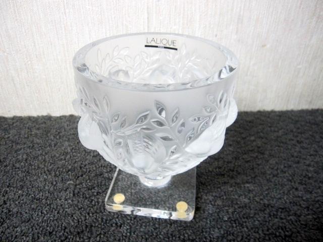 世田谷区にて LALIQUE/ラリック フラワーベース クリスタルガラス を出張買取しました