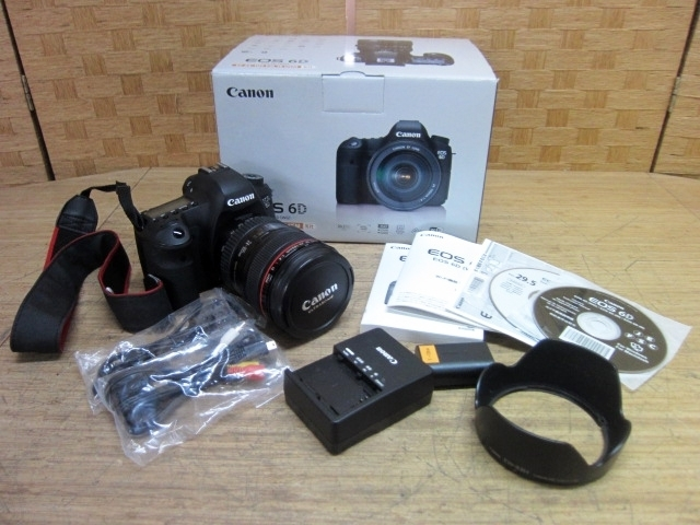 東京都八王子市にて キャノン デジタル一眼レフカメラ EOS 6D 24-105mm 1:4L を出張買取しました
