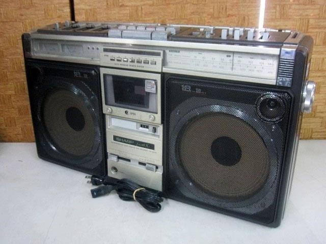 シャープ ステレオラジカセ テープレコーダー GF-505SB
