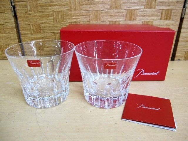 バカラ ロックグラス 2012 ペア クリスタルガラス