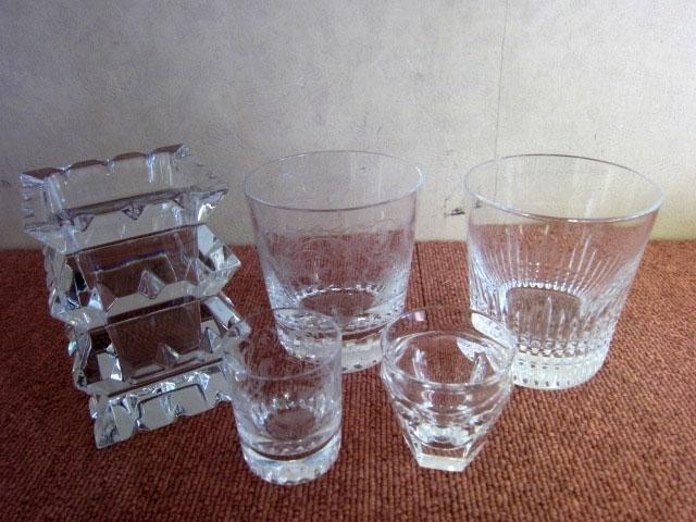 東京都 港区にて バカラ クリスタルガラスまとめ  グラス 灰皿等 を出張買取しました