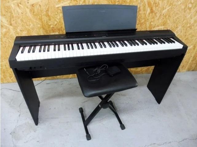 とうきょう品川区にて ヤマハ 88鍵盤 電子ピアノ P-125B 2018年製 椅子・ペダル付き を出張買取しました