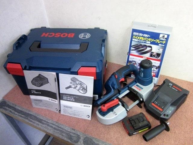東京都 世田谷区にて Bosch コードレスバンドソー GCB18V-LI 未使用品 を店頭買取しました