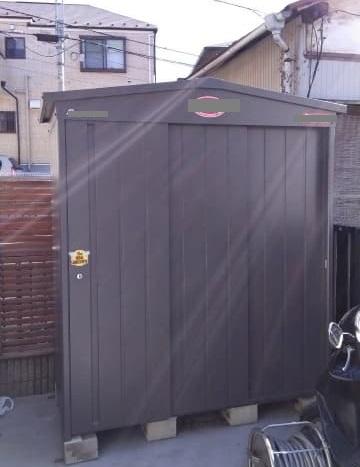 神奈川県 横浜市 保土ヶ谷区にて マツモト物置 多雪仕様 MN-1810 W1950×D1035×H2140mm を出張買取しました