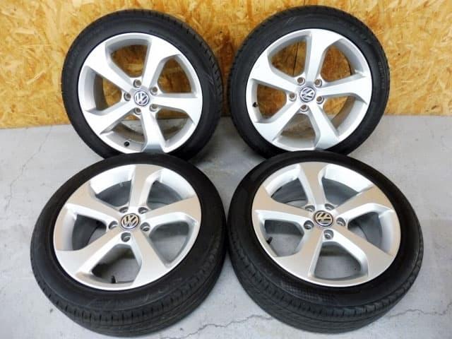 東京都 八王子市にて VW ゴルフ GTI 純正17インチ アルミホイール/タイヤ4本セット を店頭買取しました。