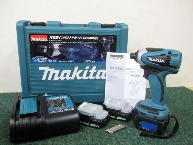 神奈川県 相模原市にて マキタ インパクトドライバー TD134DSHX 3Ah予備バッテリー付 を店頭買取しました