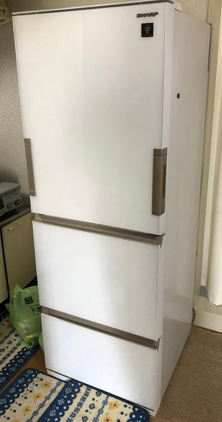 国立市にて 冷蔵庫 シャープ SJ-GH36D 2019年製 を出張買取致しました