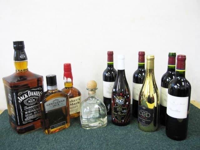 神奈川県 川崎市にて 洋酒まとめ ウイスキー テキーラ ワイン等 を出張買取しました