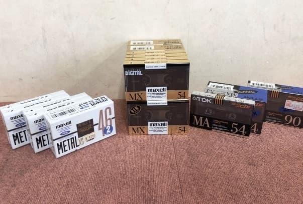 東京都 北区にて 未使用 カセットテープ TDK/Maxell メタルテープまとめ を出張買取しました